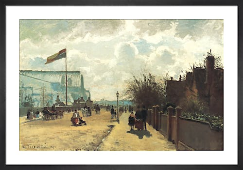 The Crystal Palace, 1871 by Camille Pissarro