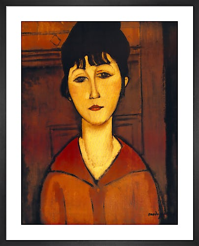 Head of a Young Girl 1916 by Amedeo Modigliani