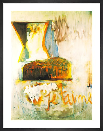 Je T'Aime No.3 with Loaf of Bread, 1955 by Robert Motherwell