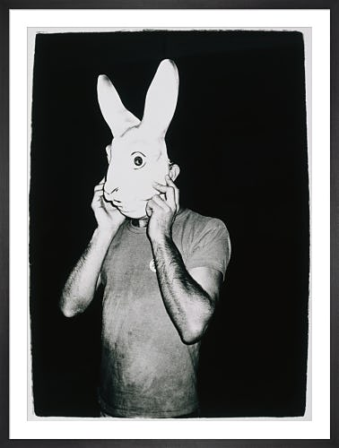 Man with Rabbit Mask, c.1979 (Special Edition) by Andy Warhol