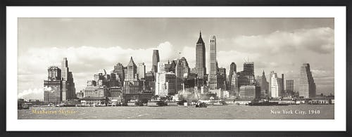 Manhattan Skyline, New York City 1940 (detail) by Anonymous