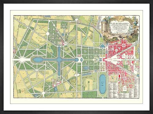 Versailles - Plan du Parc by Anonymous