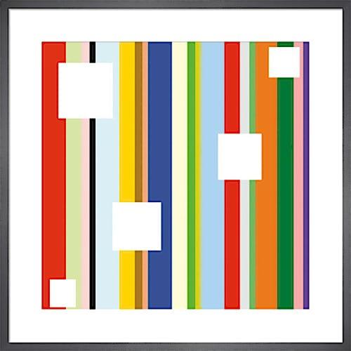 White Square on Stripe (detail) by Dan Bleier
