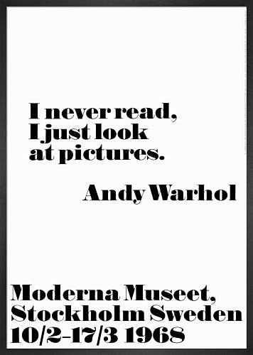 I never read by Andy Warhol