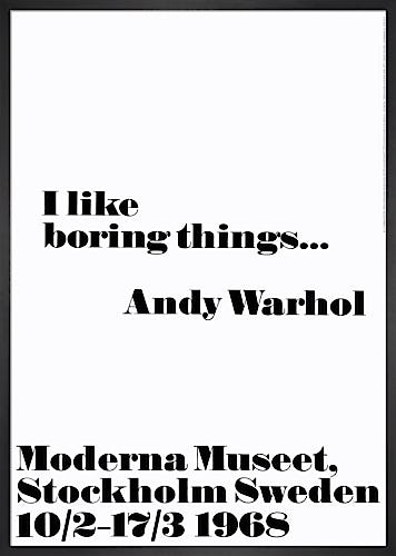 I like Boring Things by Andy Warhol
