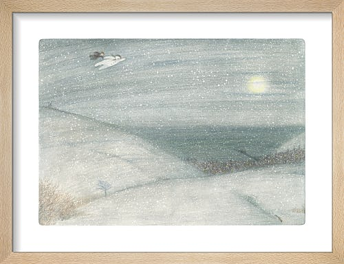 The Boy and The Snowman can be seen flying high above the countryside by Raymond Briggs