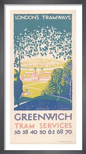 Greenwich Tram Services by Leslie Porter