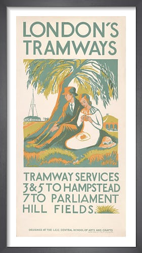 Tramway Services 3 & 5 to Hampstead by Muriel Jackson