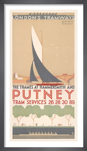 The Thames At Hammersmith And Putney by Ralph & Brown Studios