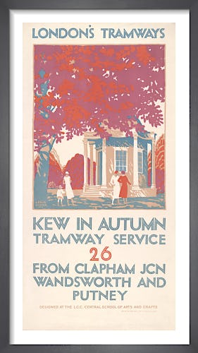 Kew In Autumn Tramway Service 26 by Leslie Porter