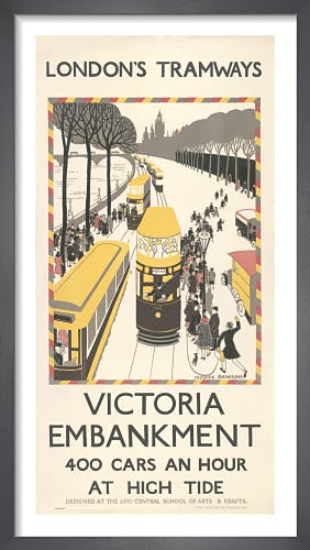 Victoria Embankment 400 Cars An Hour by Monica Rawlins