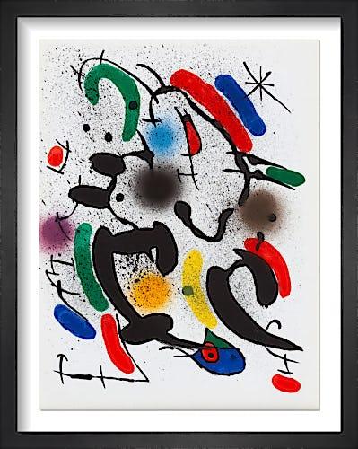 Lithographie Originale VI, 1972 by Joan Miro