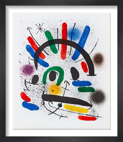 Lithographie Originale II, 1972 by Joan Miro