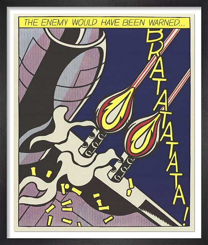 The Enemy Would Have Been Warned (Panel 2) (1964) by Roy Lichtenstein