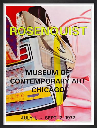 MOCA Chicago 1972 by James Rosenquist