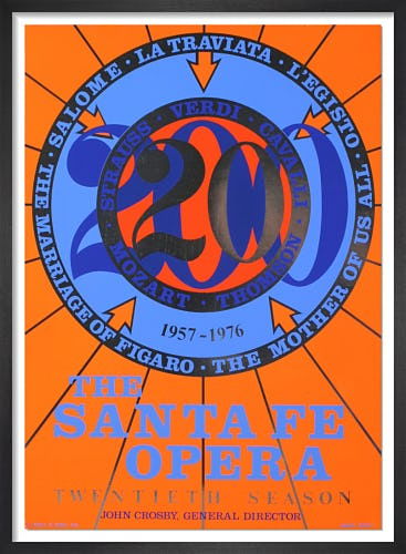 The Santa Fe Opera (1976) by Robert Indiana