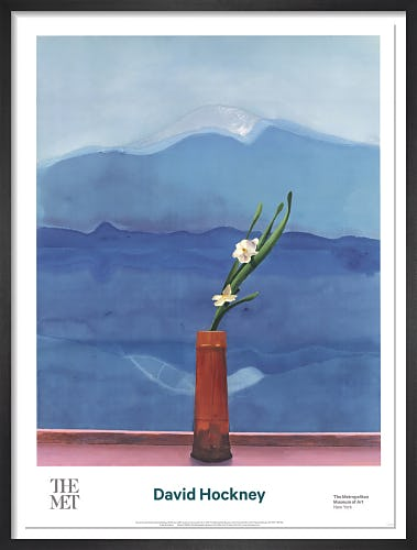 Mount Fuji and Flowers, 1972 by David Hockney