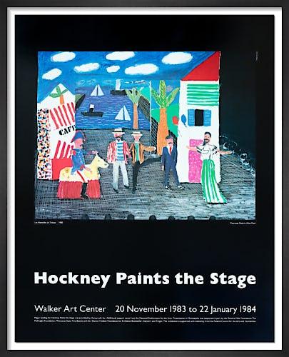 Les Mamelles de Tiresias (Hockney Paints the Stage 1983-4) by David Hockney