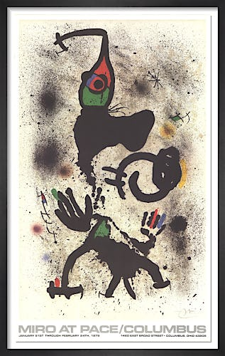 At Pace-Columbus (vertical) by Joan Miro
