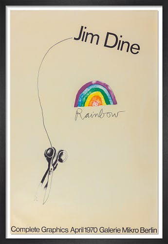 Rainbow Scissors 1969 (Signed) by Jim Dine