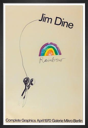Rainbow Scissors 1969 (Signed) by Jim Dine