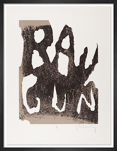 Ray Gun 1972 (Signed) by Claes Oldenburg