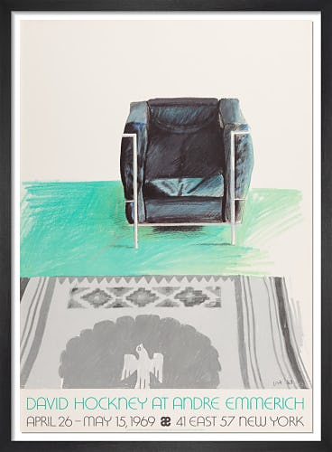 Corbusier Chair and Rug 1969 by David Hockney