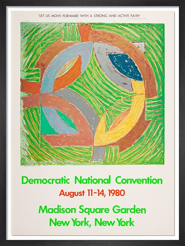 Democratic Convention 1980 by Frank Stella