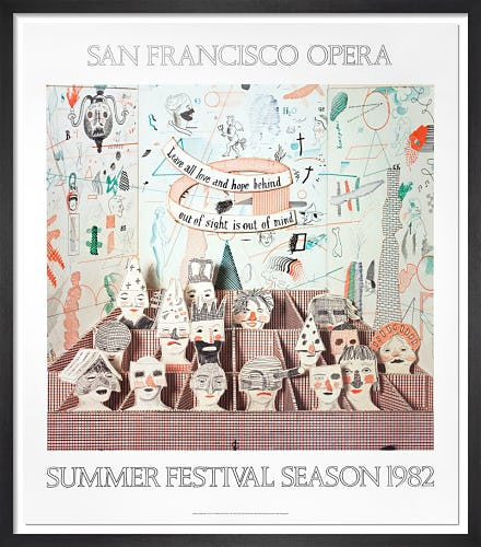 San Francisco Opera, 1982 by David Hockney
