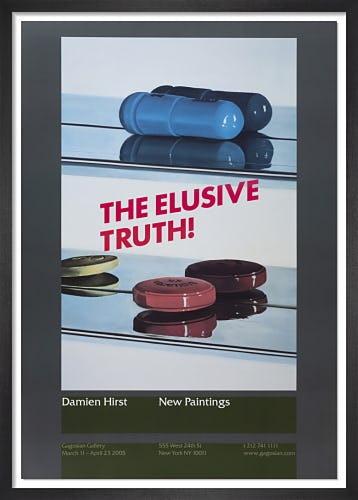 Elusive Truth Poster (Two Pills) (2005) by Damien Hirst