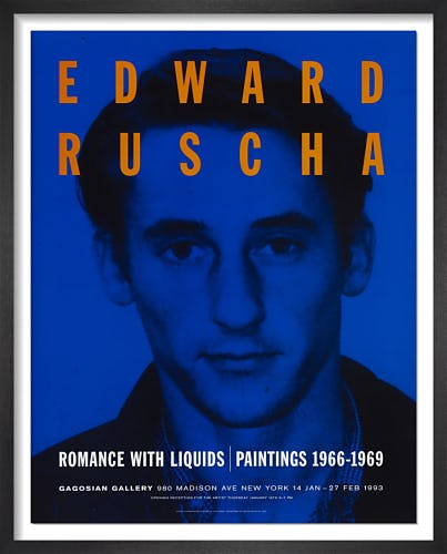 Romance with Liquids (1993) by Ed Ruscha