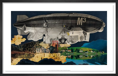 Instant City Airships, The Airship in Lancashire: Model/Collage by Archigram
