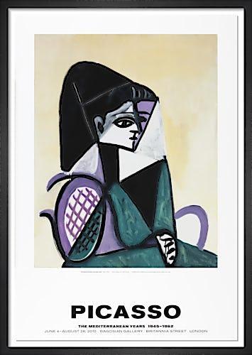 Portrait de femme a la robe verte by Pablo Picasso