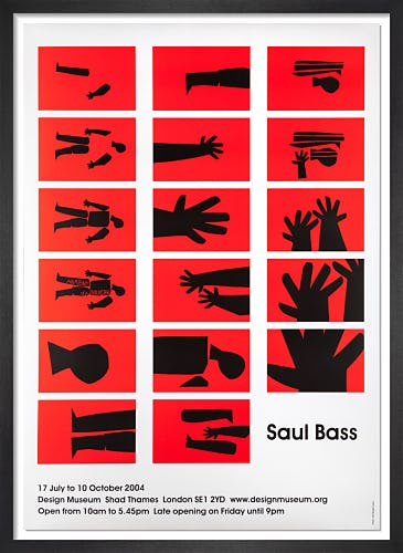 Saul Bass Exhibition Poster, 2004 by Saul Bass