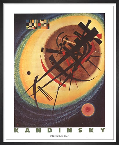 In The Bright Oval by Wassily Kandinsky