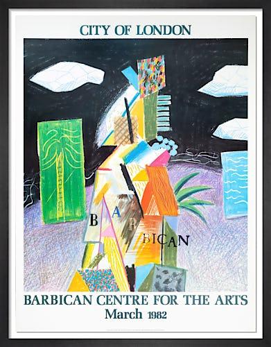 Barbican Centre, 1982 by David Hockney