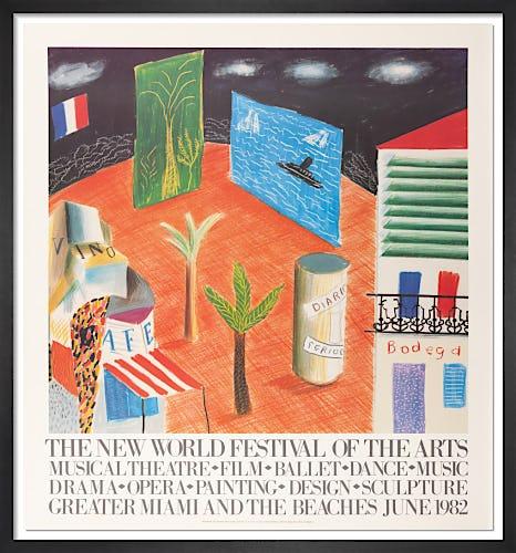 The New World Festival, 1982 by David Hockney