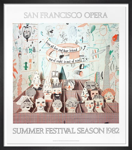 San Francisco Opera, 1982 by David Hockney