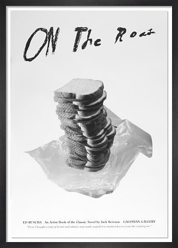 On the Road: An Artist Book of the Classic Novel by Jack Kerouac (Poster A) by Ed Ruscha