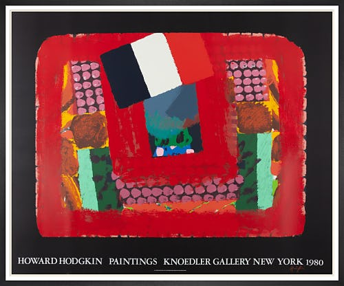 In a French Restaurant 1980 (Signed) by Sir Howard Hodgkin