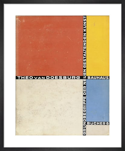 Book cover: 'Grundbegriffe der Neuen Gestaltenden Kunst' by Theo van Doesburg