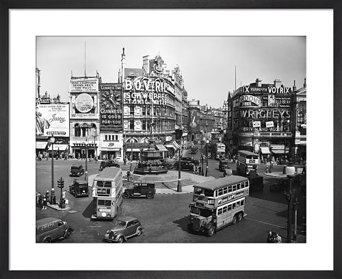 Piccadilly Circus, 1947 by PA Images