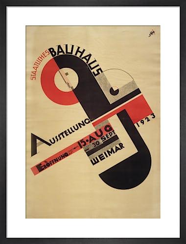 Staatliches Bauhaus Ausstellung Weimar 1923 by Joost Schmidt