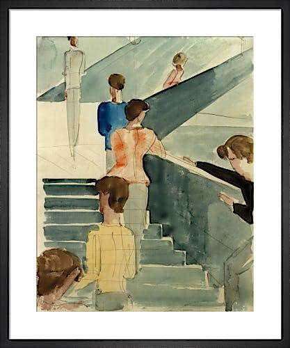 Bauhaus Stairs 1931 by Oskar Schlemmer