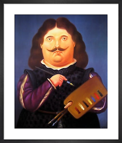 Portrait of Velazquez by Fernando Botero