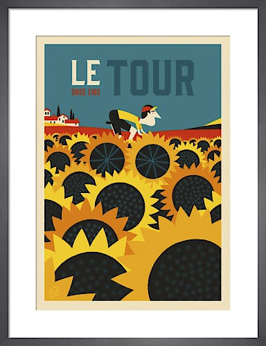 Le Tour Sunflowers by Spencer Wilson