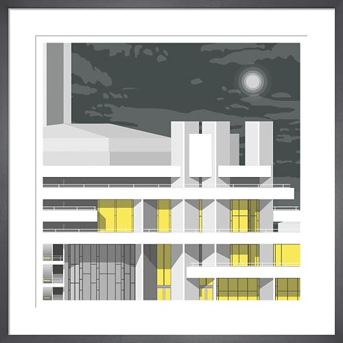 National Theatre Night by Linescapes