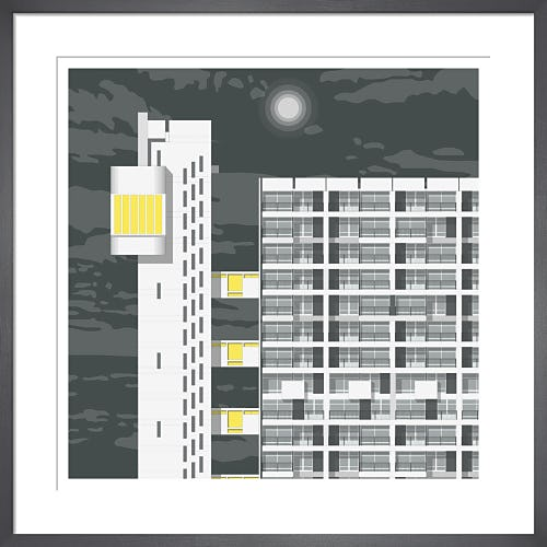 Trellick Tower Night by Linescapes