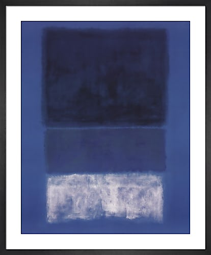 No 14 White and Greens in Blue by Mark Rothko