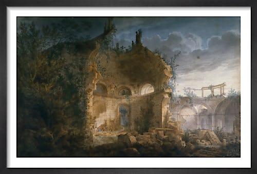 Sir John Soane's Rotunda at the Bank of England in Ruins by Joseph M Gandy